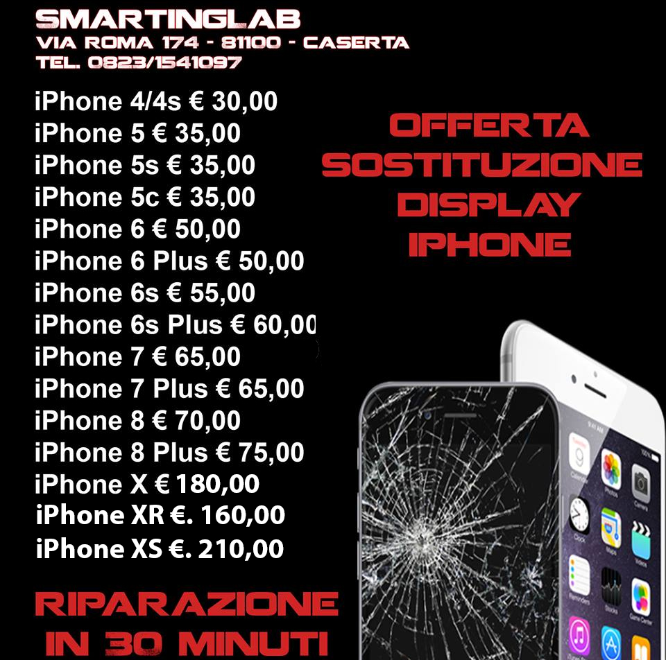 offerta sost display iphone